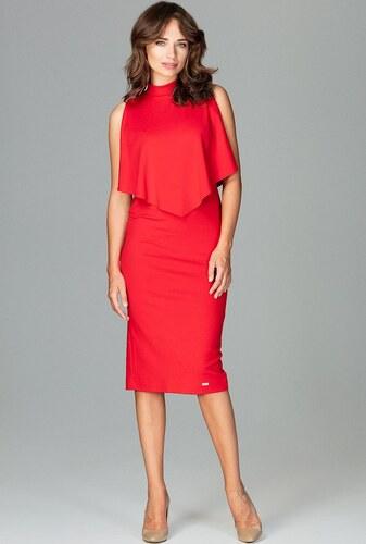 LENITIF Šaty s ľahkým plášťom K480 Red - Glami.sk 5bc1dfa2669