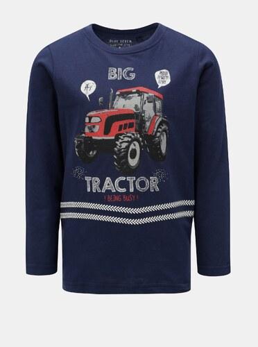 2d48fac23598 Tmavomodré chlapčenské tričko s potlačou Blue Seven - Glami.sk