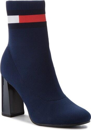 Magasított cipő TOMMY JEANS - Sock Heeled Boot EN0EN00277 Navy 406 ... bc98fc6533