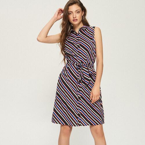 3ff789b80ad9 Sinsay - Prúžkované košeľové šaty - Viacfarebn - Glami.sk