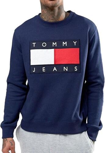 8e48ebefb06 Tommy Hilfiger Pánská mikina TOMMY JEANS - navy - Glami.cz