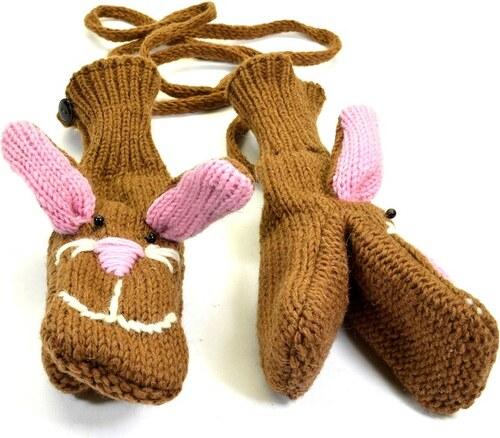 Zvířátkové vlněné rukavice - palčáky zajíc FREE - Glami.cz 5b2a22520bb