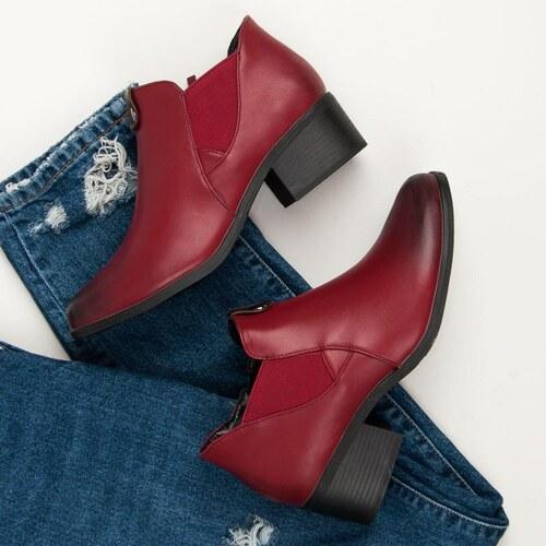 Vinceza Nazúvacie bordové topánky EVV18-6324R - Glami.sk f3bff89b608