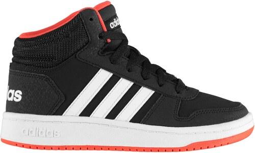 Detská členková obuv Adidas Hoops Mid 2.0 High Top Trainers Junior Boys 9a0326a80d2