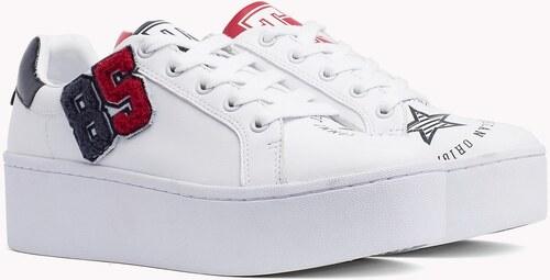 Tommy Hilfiger biele kožené tenisky na platforme TJ85 Icon Sneaker ... 01ed665474f