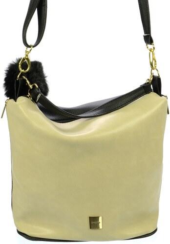 Béžovo-černá crossbody kabelka s kožešinou M207 - Grosso - Glami.sk 1bc8ac09560