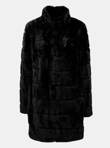 a3e8b5b09463 Čierny kabát z umelej kožušiny Dorothy Perkins - Glami.sk