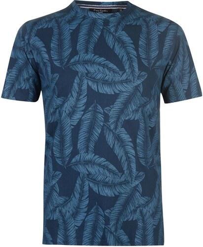 -33% Triko Triko Pierre Cardin Mono Tropical T Shirt pánské Dark Indigo a93031a64f
