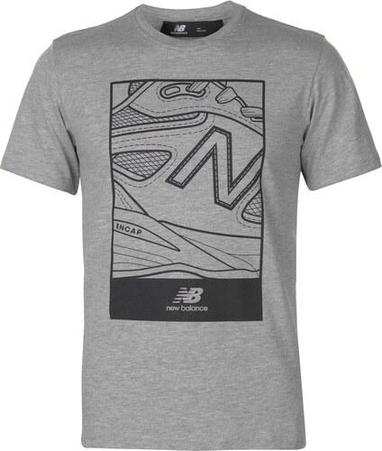 New Balance Shoe Logo T Shirt Mens Grey - Glami.cz 84a003b8f2