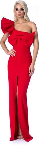 f048636c75 Piros StarShinerS alkalmi hosszú szirén tipusú ruha szűk szabás fodros  masni díszítéssel