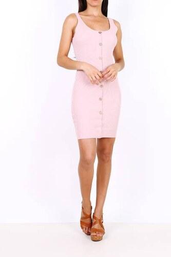 19e8f392d2ec Rouzit Krátke ružové elastické šaty na ramienka - Glami.sk