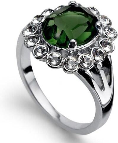 Prsteň s krištáľmi Swarovski Oliver Weber Genuine Emerald 52 mm ... 28d3f329057