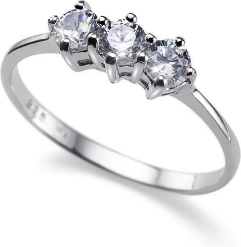 Strieborný prsteň s krištáľmi Swarovski Oliver Weber Simple Three 63216 52  mm ab01c7c4585