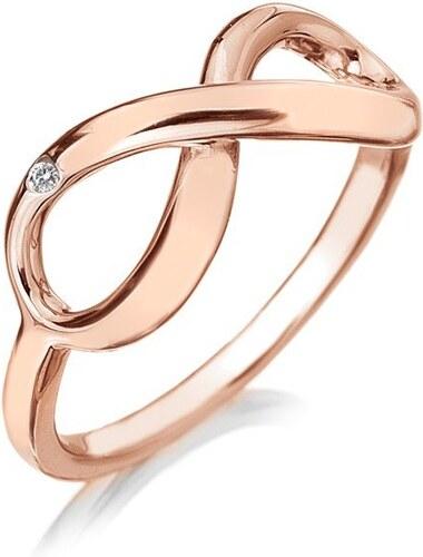 Stribrny Prsten Hot Diamonds Infinity Rose Gold 51 Mm Glami Cz