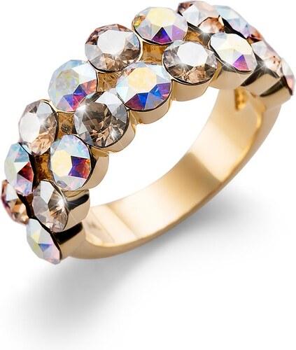 64859d5b3 Prsten s krystaly Swarovski Oliver Weber Port gold golden shadow 58 ...