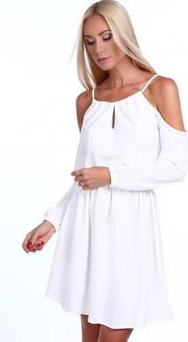 Fasardi Krémové dámske šaty s odhalenými ramenami - Glami.sk c6e5490085