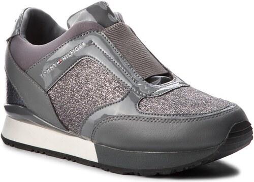 Tommy Hilfiger šedé tenisky Elastic Wedge Sneaker Steel Grey - 41 ... 957ce97a93