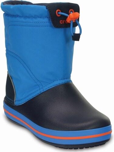 Crocs Chlapčenské snehule Crocband LodgePoint Boot - modré - Glami.sk 39c1639576