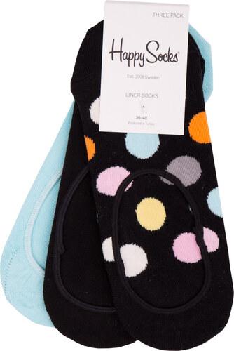 f0347e130a5 Happy Socks 3 pack barevných nízkých ponožek do tenisek Big Dot - 36 ...