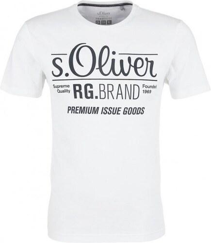 fdcc68faa7d5 s.Oliver pánské tričko XXL bílá - Glami.cz