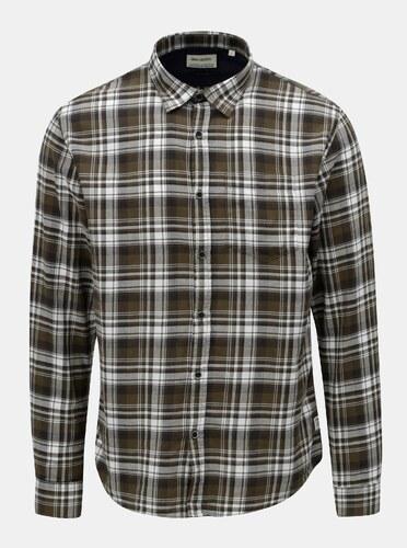 Bílo-zelená kostkovaná košile s náprsní kapsou Shine Original - Glami.cz 28230a9f26