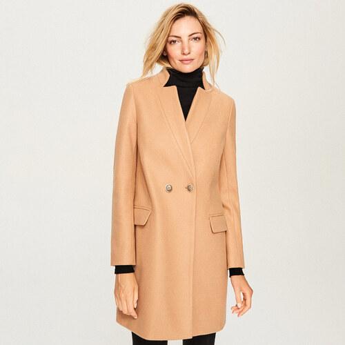 Reserved - Gyapjúszálas kabát - Bézs - Glami.hu eead3917dd