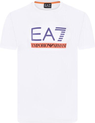 b0f32c4cb29a Bílé slim fit ARMANI pánské tričko EA7 - Glami.cz