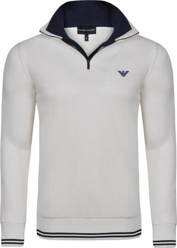 Béžový luxusní svetr na zip od Emporio Armani - Glami.cz 730c70d415