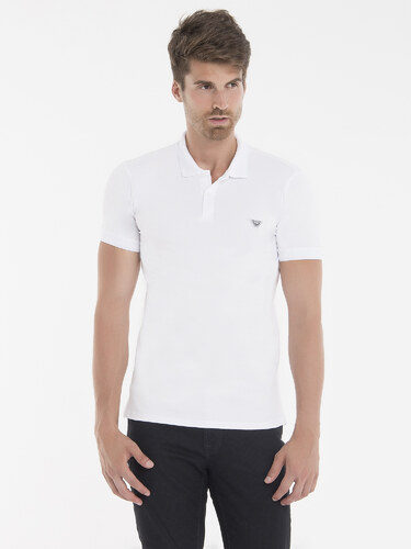 Bílá elegantní polokošile od Armani Jeans - Glami.cz b4ceeda7d5