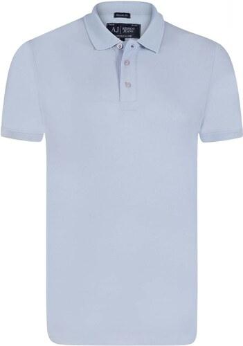 Světle modrá elegantní polokošile od Armani Jeans - Glami.cz b4b540fc60