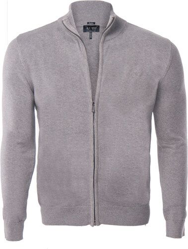 Šedý elegantní svetr na zip od Armani Jeans - Glami.cz afbb78dd5b