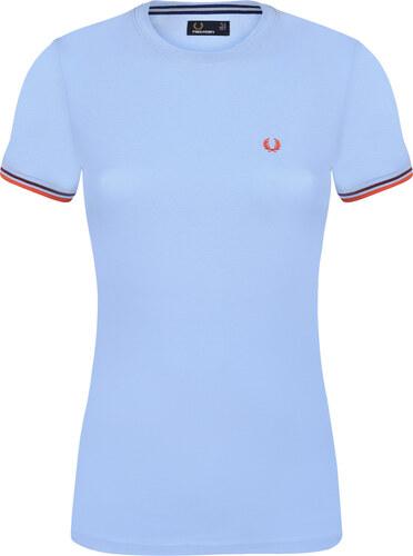 1434291b791f Svetlo modré tričko z prémiovej bavlny od Fred Perry - Glami.sk