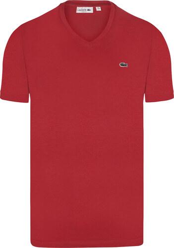 Červené elegantní tričko od Lacoste - Glami.cz 4753efd575f