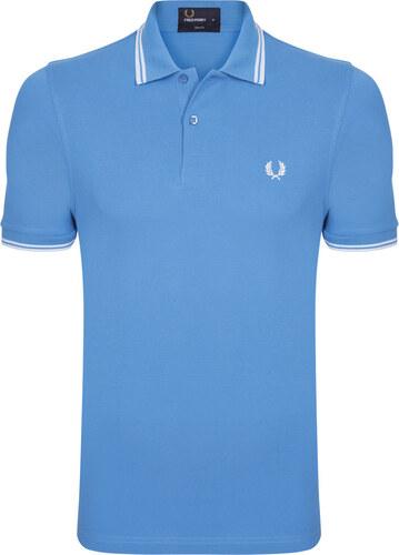 b9d8f646755b -48% Svetlo modrá-biela polokošeľa z prémiovej bavlny od Fred Perry