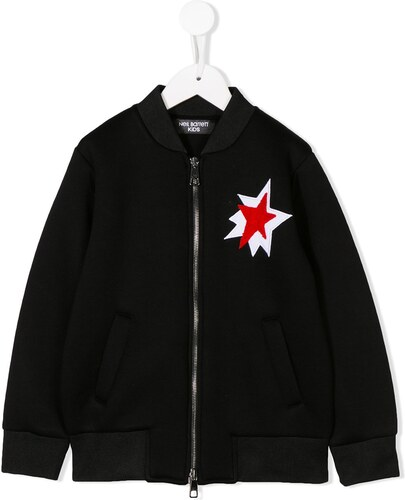 b5f630c16e5a Neil Barrett Kids star patch bomber jacket - Black - Glami.sk