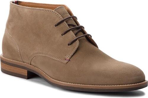 Outdoorová obuv TOMMY HILFIGER - Essential Suede Boot FM0FM00252 Taupe Grey  005 1c5b5fc9de0