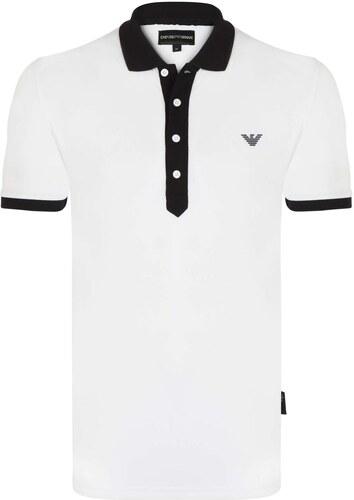 Bílo-černá luxusní polokošile od Emporio Armani - Glami.cz 183e157f3f