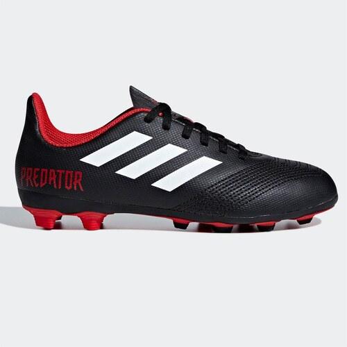 0333b0ae3f187 adidas Predator 18.4 Childrens FG Football Boots Black/Wht/Red ...