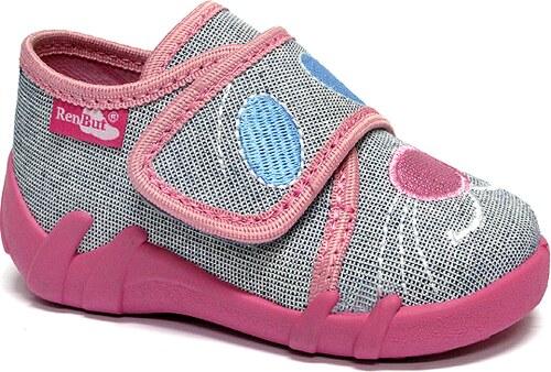 4c87d49ece95 Ren But Dievčenské papučky - šedo-ružové - Glami.sk