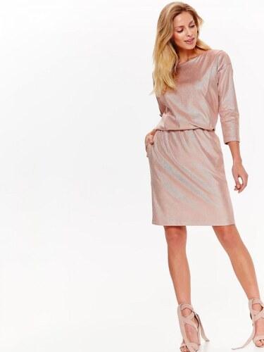 865c36605fcf Top Secret šaty dámské růžové s dlouhým rukávem a gumou v pase ...