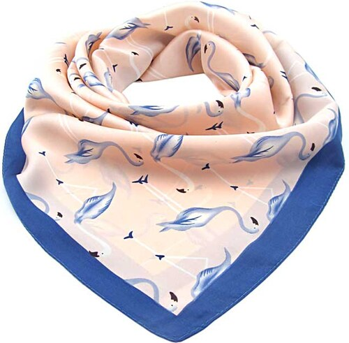 Meruňkový velký šátek čtvercový – plameňák - Glami.cz 5a1d6ac9a3