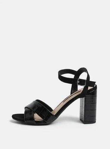 95349a2eb9b8 Čierne sandále na vysokom podpätku Dorothy Perkins Serena - Glami.sk