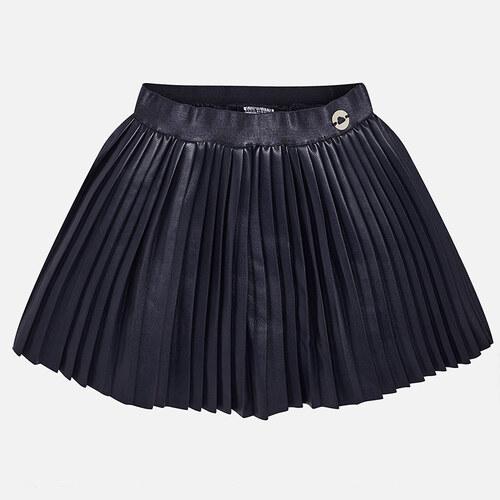 MAYORAL dívčí skládaná sukně koženka tmavě modrá - Glami.cz a7852a355b