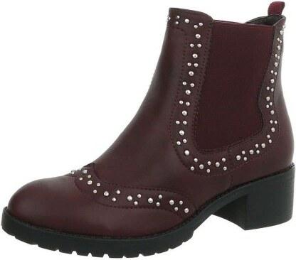 FashionFrey Dámské boty Chelsea - víno - Glami.cz b9758a77db
