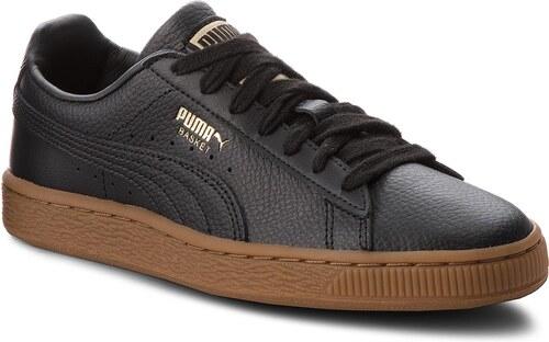 -31% Sneakersy PUMA - Basket Classic Gum Jr 366668 01 Puma Black Metallic  Gold 04ee19bb518