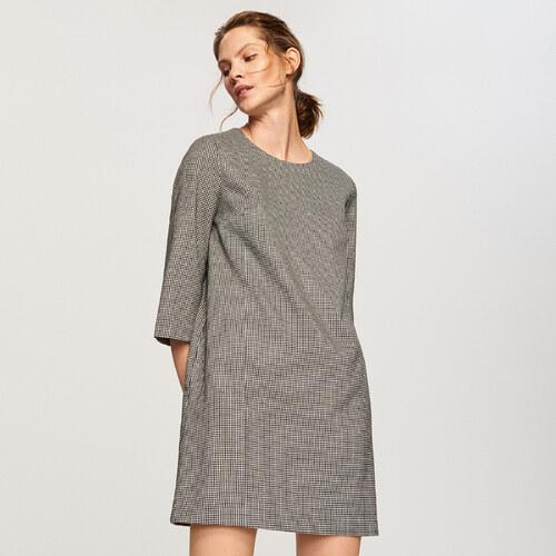 Reserved - Pepitové šaty - Světle šed - Glami.cz bc39cfb594