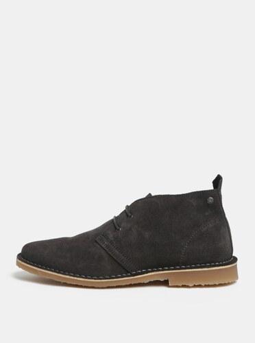 Šedé pánské semišové kotníkové boty Jack   Jones Gobi - Glami.cz 046ef8c862