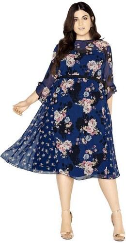 LITTLE MISTRESS Šifónové midi šaty s kvetmi - Glami.sk e806502aa1