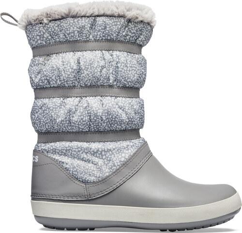 Dámské boty Crocs CROCBAND WINTER Boot šedá - Glami.cz 964b3b5f06
