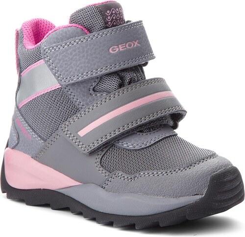 Sněhule GEOX - J Orizont B.G.Abx D J842BD 0FU54 C0502 M Grey Pink ... 8372253820